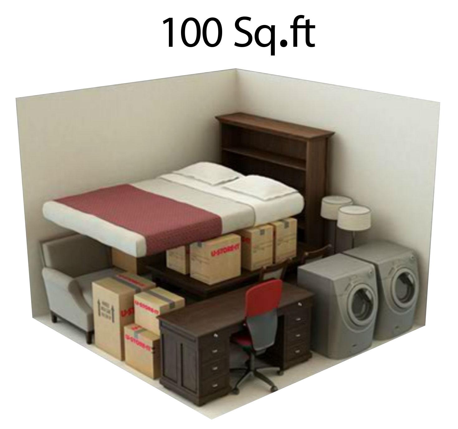 100 sgft storage