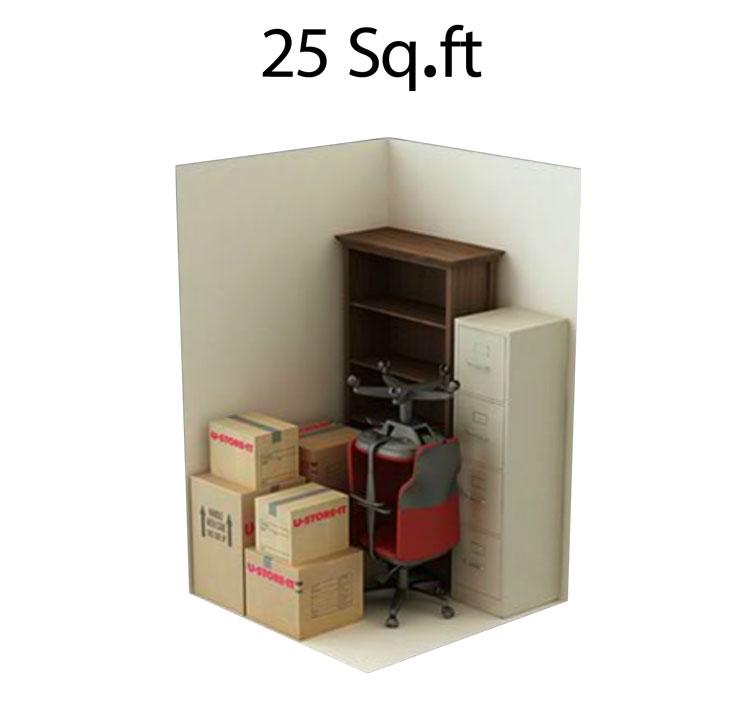25 sgft storage