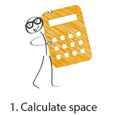 calculate storage